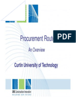 Procurement Routes Overview