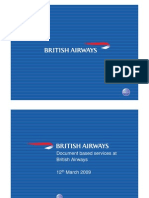 Document Based Services at British Airways