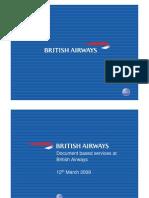 Document Based Services at British Airways