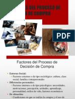 FACTORES DEL PROCESO DE DECISIÓN DE COMPRA