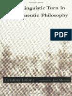 LAFONT, Cristina the Linguistic Turn in Hermeneutic Philosophy