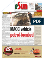 thesun 2009-08-21 page01 macc vehicle petrol-bombed