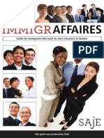 IMMIGRAFAIRES - Guide for immigrants who want to start a business in Québec