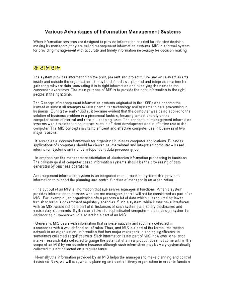 formal information system definition
