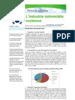 Industrie automobile en Corée du Sud 2009