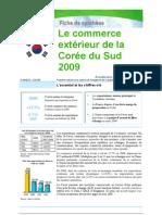 Commerce extérieur de la Corée du Sud 2009