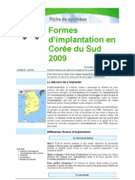 Formes d'implantation en Corée du Sud 2009