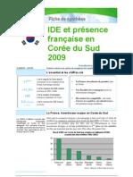 IDE et présence française en Corée du Sud 2009