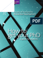 How to Get Your PhD
