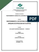Mantenimiento Correctivo Maquina de Inyeccion de Plasticos