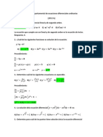 Examen Departamental de Ecuaciones Diferenciales Ordinarias