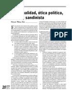 Espiritualidad ética política mística sandinista  Correo 29