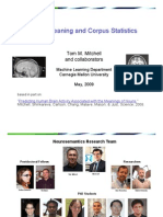 Brain Meaning and Corpus Statistics [Tom Mitchell]