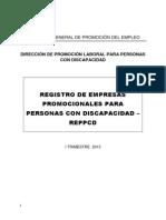 Registro Personas Discapacidad Itrimestre2013