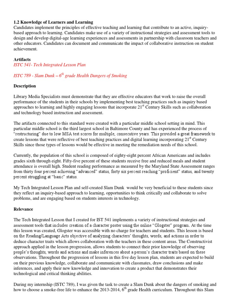 Reflection 1 2 Garde Educational Assessment Lesson Plan