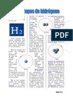[12] isotopos del hidrógeno