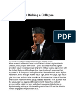 Afghanistan Riaking a Collapse