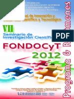 Resumen Fondocyt 2012