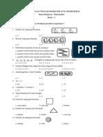 SOAL UTS Matematika kelas 1 SD