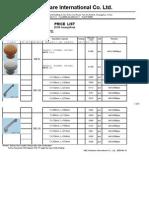 price list for San Exp - 2009.06.1604(08F-04)