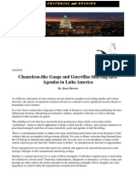 Chameleon-Like Gangs and Guerrillas Blurring Their Agendas in Latin America