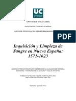 Inquisición y limpieza de sangre en Nueva España