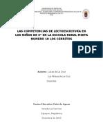 Proyecto_41646_LAS COMPETENCIAS DE LECTOESCRITURA EN LOS NIÑOS DE 3° EN LA ESCUELA RURAL MIXTA NUMERO 10 LOS CERRITOS