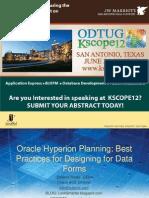 [InterRel] OHP Best Practices in Designing Planning Data Forms.(Kscope12).2012.En