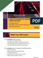 Cognos Performance 2008 5 Steps DI Nimfuehr IBM
