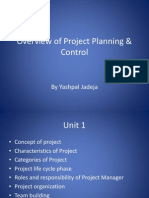 Overview of Project Planning & Control