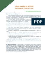 Cisterna, Felix Eduardo - Lectura Popular de Biblia