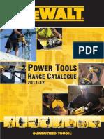 Dewalt Power Tools Range Catalogue 2011 2012