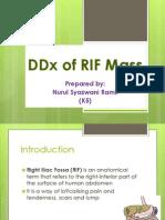 DDx of RIF Mass (Syazwani)