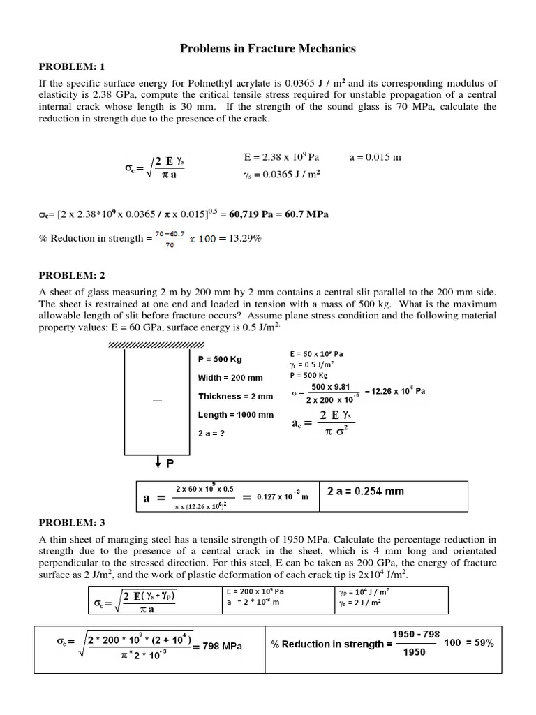 Problems and solutions in fracture mechanics strength of materials problems and solutions in fracture mechanics strength of materials fracture fandeluxe Images