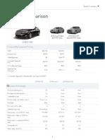 Lexus Competitive Comparison 2014 ES 350 2013-12-01