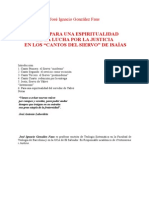 Gonzalez Faus, Jose Ignacio - Espiritualidad de La Justicia en Isaias