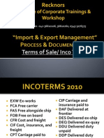 Incoterms Import & Export Management Ppt