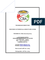 Tender for Medical Cover and Group Life Cover Cra_tender No. Cra_002_2013_2014