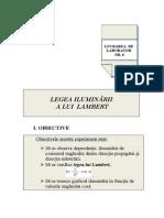 6. Legea Iluminarii -Lambert ARINA
