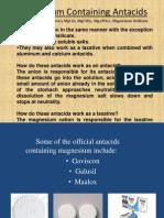 Magnesium Containing Antacids