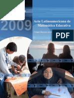 Acta Latinoamericana de Matemática Educativa