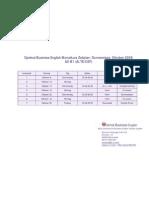 Optimal Business English Monatkurs (Donnerstags A2-B1) Zeitplan 2