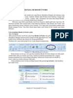 Header and Footer Pada Microsoft Word