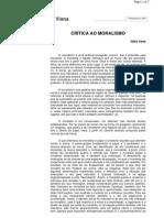 Crítica ao Moralismo - Nildo Viana