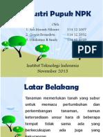 PPT Proses Industri Pupuk NPK (UAS)