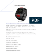 DA-690 GPS Tracking System Watch GPS Tracker