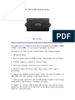 TK104 Car GPS Tracker Vehicle GPS Tracking System