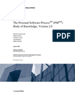 The Personal Software Process (PSP) Body of Knowledge, Version 2.0