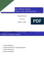 Human Body Motion Analysis