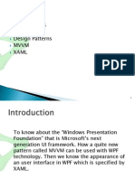 Introduction to WPF and MVVM